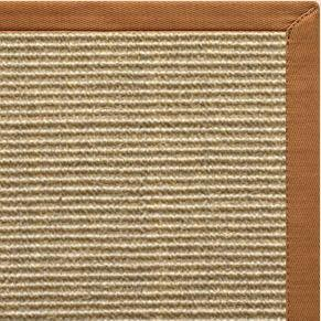 Bone Sisal Rug with Caramel Cotton Border - Free Shipping
