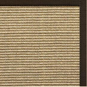 Bone Sisal Rug with Chocolate Cotton Border