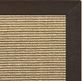 Area Rugs - Sustainable Lifestyles Bone Sisal Rug With Chocolate Cotton Border