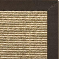 Bone Sisal Rug with Chocolate Cotton Border - Free Shipping