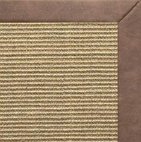 Bone Sisal Rug with Coco Faux Leather Border - Free Shipping
