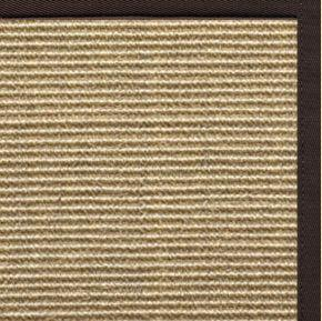 Bone Sisal Rug with Cocoa Bean Cotton Border