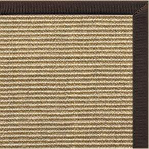 Bone Sisal Rug with Cocoa Bean Cotton Border - Free Shipping