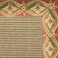 Bone Sisal Rug with Della Tapestry Border - Free Shipping