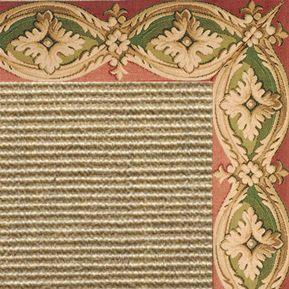 Bone Sisal Rug with Della Tapestry Border