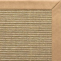 Bone Sisal Rug with Desert Faux Leather Border - Free Shipping