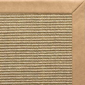 Bone Sisal Rug with Desert Faux Leather Border