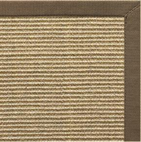 Bone Sisal Rug with Eucalyptus Cotton Border - Free Shipping