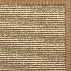 Bone Sisal Rug with Granola Cotton Border