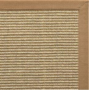 Area Rugs - Sustainable Lifestyles Bone Sisal Rug With Granola Cotton Border