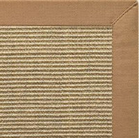 Bone Sisal Rug with Granola Cotton Border - Free Shipping