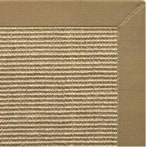 Bone Sisal Rug With Green Mist Cotton Border