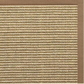 Bone Sisal Rug with Harvest Haze Cotton Border