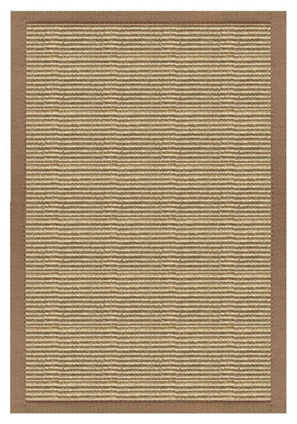 Area Rugs - Sustainable Lifestyles Bone Sisal Rug With Harvest Haze Cotton Border