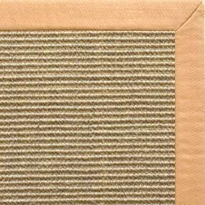 Bone Sisal Rug with Honey Linen Border