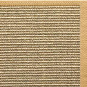 Bone Sisal Rug with Honeycomb Cotton Border