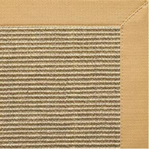 Bone Sisal Rug with Honeycomb Cotton Border - Free Shipping
