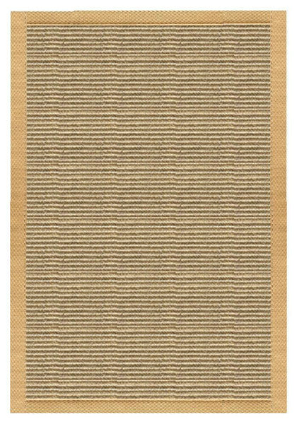 Area Rugs - Sustainable Lifestyles Bone Sisal Rug With Honeycomb Cotton Border