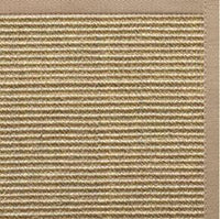 Bone Sisal Rug with Ivory Blush Cotton Border - Free Shipping