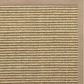 Bone Sisal Rug with Ivory Blush Cotton Border