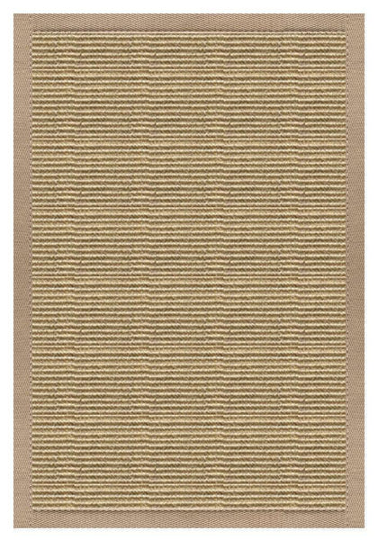 Area Rugs - Sustainable Lifestyles Bone Sisal Rug With Ivory Blush Cotton Border