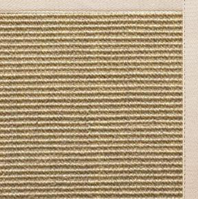 Bone Sisal Rug with Ivory Cotton Border