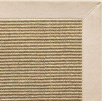 Bone Sisal Rug with Ivory Cotton Border - Free Shipping