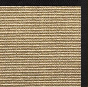 Bone Sisal Rug with Lava Cotton Border - Free Shipping