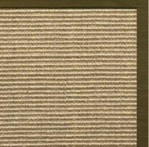 Bone Sisal Rug with Lichen Cotton Border