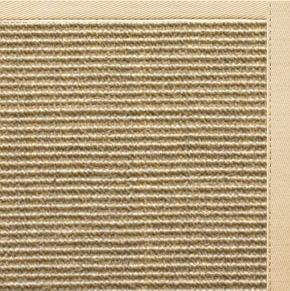 Area Rugs - Sustainable Lifestyles Bone Sisal Rug With Magnolia Cotton Border