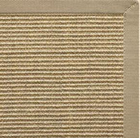 Bone Sisal Rug with Moon Rock Gray Cotton Border - Free Shipping