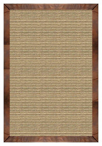 Area Rugs - Sustainable Lifestyles Bone Sisal Rug With Oak Leather Border