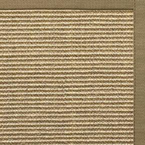 Bone Sisal Rug with Oat Straw Cotton Border - Free Shipping