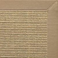 Bone Sisal Rug with Oatmeal Cotton Border - Free Shipping