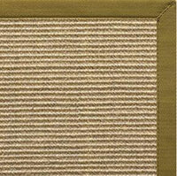 Bone Sisal Rug with Olive Green Cotton Border - Free Shipping