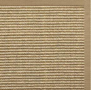 Bone Sisal Rug with Pale Ash Cotton Border - Free Shipping