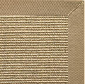 Bone Sisal Rug With Pale Ash Cotton Border