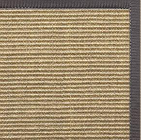 Bone Sisal Rug with Quarry Cotton Border - Free Shipping