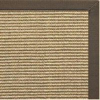 Bone Sisal Rug with Rye Cotton Border - Free Shipping