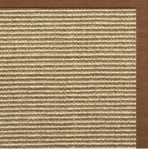Bone Sisal Rug with Sahara Cotton Border - Free Shipping