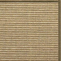 Bone Sisal Rug with Serged Border (Color 10639) - Free Shipping
