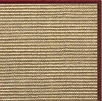 Bone Sisal Rug with Serged Border (Color 11989) - Free Shipping