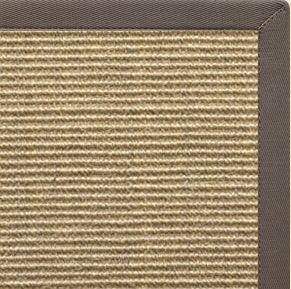 Bone Sisal Rug with Silver Shadow Cotton Border - Free Shipping
