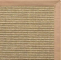 Bone Sisal Rug with Straw Cotton Border - Free Shipping