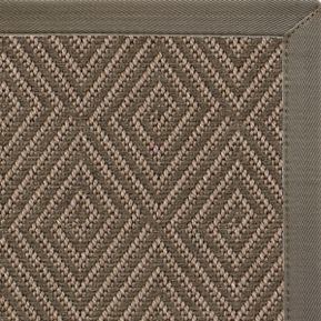 Brown Patterned Outdoor Area Rug with Quarry Canvas Border