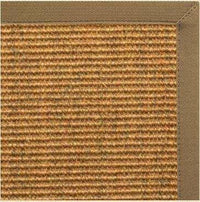 Cognac Sisal Rug with Adobe Canvas Border - Free Shipping