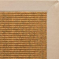 Cognac Sisal Rug with Alabastor Cotton Border - Free Shipping