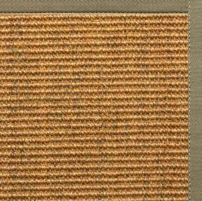 Area Rugs - Sustainable Lifestyles Cognac Sisal Rug With Basil Green Cotton Border