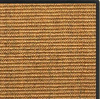 Cognac Sisal Rug with Black Serged Border - Free Shipping