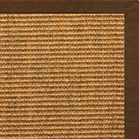 Cognac Sisal Rug with Bronze Cotton Border - Free Shipping